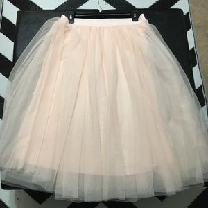 Tulle skirt by Esley.  Ballet pink. Size L